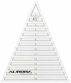 """Линейка для пэчворка Aurora """"Треугольник"""", с углом 45 , 16,5 х 14,5 см"""