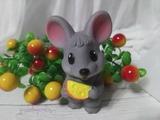 Мышка с сыром форма 3D силиконовая