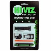 Комплект из мушки и целика HiViz (модели TS-2002 и M300) 5,5 мм - 8,3 мм, зелёный/красный
