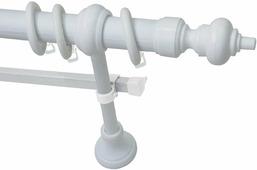 """Карниз Эскар """"Эконом"""", металл/пластик, с U-шиной, составной, цвет: Белый, длина 220 см"""