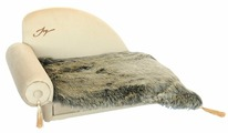 Лежак для животных JOY Диван с пледом 60х40х40см JOY для собак 2КУВ00148, бежевый