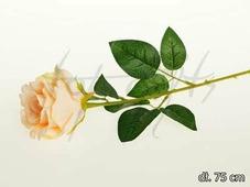 Цветок искусственный Роза одиночная 75см CV08485-17
