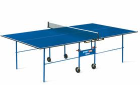 Теннисный стол START LINE Olympic без сетки 6020, ЛДСП 16 мм, складной на роликах