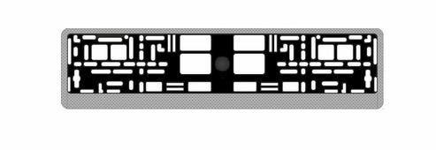 """Рамка под номерной знак """"AVS"""", цвет: светлый карбон"""