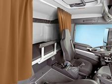 Комплект автоштор Эскар Blackout - auto SK, рыже - коричневый, 2 шторы 120 х 160 см, гибкий карниз 3 м