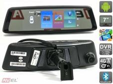 Зеркало заднего вида с монитором и видеорегистратором AVEL AVS0423DVR