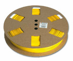 Профиль безгалогеновый овальный Partex POZ01 на провод 0.25 мм², Ø 1.3 / 1.8 мм, желтый (рулон 50 м) {POZ01000DN4}