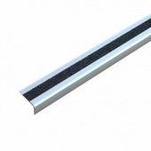 Алюминиевый профиль для краев ступеней с противоскользящей лентой, черный (50 х 25 х 1000 мм) {ATM1SF2}