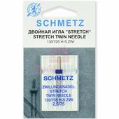 Игла двойная-стретч SCHMETZ TWIN STRETCH №75/2.5 (1 шт.)