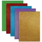 Цветная пористая резина для творчества (пенка в листах), А4, 210х297 мм, BRAUBERG, 5 листов, 5 цветов, супербл