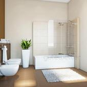 Шторка на ванну Gutewetter Trend Pearl GV-862A 90x160 (золото металлик)