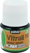 Pebeo Краска для стекла и металла Vitrail лаковая прозрачная цвет 050-030 песочный 45 мл
