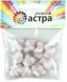 """Бусины Астра """"Premium"""", цвет: белый, грязно-розовый (213), 22 мм х 17 мм, 10 шт"""