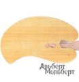 Палитра художественная овальная Capelletto из орехового дерева 45x60 см
