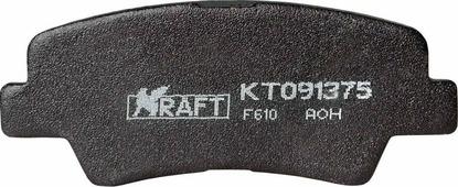 Тормозные колодки дисковые Kraft KT 091375