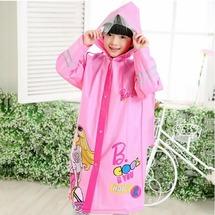 """Дождевик дизайнерский детский """"Барби"""" Baziator розовый с карманом под рюкзак размер M"""
