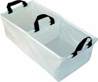 Складной двойной таз AceCamp «Transparent Folding Basin», прозрачный, размер: 25.5x51 см