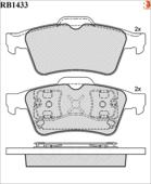 Дисковые Тормозные Колодки R Brake R BRAKE арт. RB1433