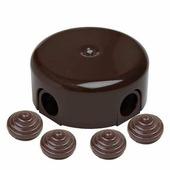 Распределительная коробка D78, коричневый B1-521-02-К BIRONI с 4 кабельными вводами в комплекте