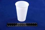 Стакан 200мл одноразовый пластиковый белый, УпаксЮнити (100/4000).1021