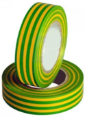 Изолента Safeline 15/10 желто-зелёные полосы