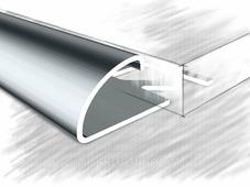 Полукруглый угол для плитки 12мм полированный из нержавеющей стали 270 см