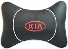 """Подушка на подголовник Auto Premium """"Kia"""", цвет: черный. 37531"""
