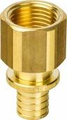 """Переходник Stout, с внутренней резьбой 16xG 3/4"""", для труб из сшитого полиэтилена аксиальный, SFA-0002-001634, желтый"""