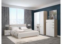 Спальня Анталия (сонома, белый софт)