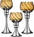 Набор ваз Lefard, цвет: золотистый, серебристый, 3 шт