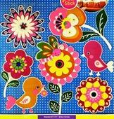 Наклейки Room Décor Неоновые со стразами 30,5х30,5см ПВХ, Цветочки