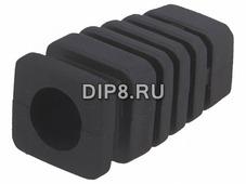 Z-7/ODG/BK, Амортизатор, резина, L 22,4мм, черный