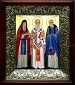 Спиридон и Никодим Печерские (21х24), киот со стразами (Иконы святых)