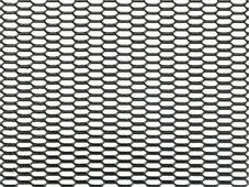 """Решетка радиатора декоративная DolleX """"Сота"""", 100 х 20 см, ячейки 20 х 6 мм, цвет: черный"""
