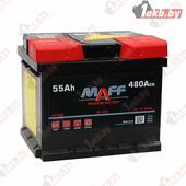 Аккумулятор для легковых автомобилей MAFF Premium (55 A/h), 480А R+