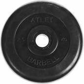 """Диск обрезиненный """"MB Atlet"""", цвет: черный, 2,5 кг"""