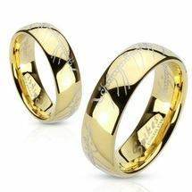 Кольцо Всевластия с золотым покрытием Spikes