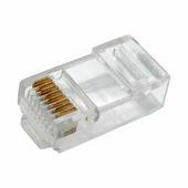 Разъем сетевой PROconnect штекер RJ-45 (8P8C), на кабель, под обжим «Эконом» {05-1021-6}