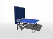 Теннисный стол всепогодный композитный на роликах WIPS Roller Outdoor Composite + сетка с креплениями в подарок
