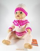 Одежда для куклы Baby Born - Розовая нежность Krispy Handmade розовая