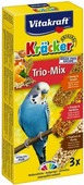 """Крекеры для волнистых попугаев """"Vitakraft"""", с медом, кукурузой и апельсином, 3 шт"""