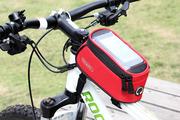 Велосипедная сумка Roswheel на раму размер S (7.5х8.5х17.5 см, красный/чёрный)