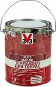 """Масло для террас """"V33"""", цвет: тиковое дерево, 5 л"""