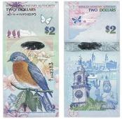Банкнота Бермудские острова 2 доллара 2009 (Pick 57b) (Бермуды) V210503