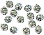 """Бусины """"Астра"""", цвет: старое серебро, 20 х 19 мм, 8 шт. 7709520_4487"""