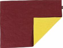 Салфетка столовая Tkano Essential, TK18-PM0015, двухсторонняя, с декоративной обработкой, бордовый, горчичный, 35 x 45 см