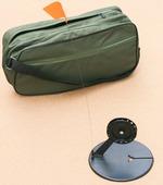 Жерлица Черная с угловой стойкой и чёрной катушкой D90 в сумке Щукарь (10 жерлиц)