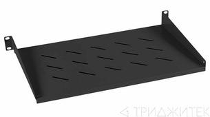 """Cabeus SH-J017-1U-315-BK Полка 19"""" перфорированная консольная 1U глубина 315 мм, цвет черный (RAL 9004)"""
