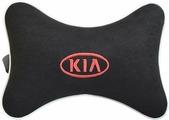 """Подушка на подголовник Auto Premium """"Kia"""", цвет: черный. 37431"""