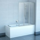 Шторка для ванны Ravak VS3 115 белый+рейн